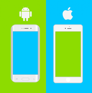 iPhoneとAndroidのイメージ
